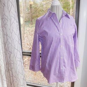 Lauren gingham button down, large, purple